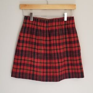 🍁🍂 J. Crew • Wool blend plaid skirt